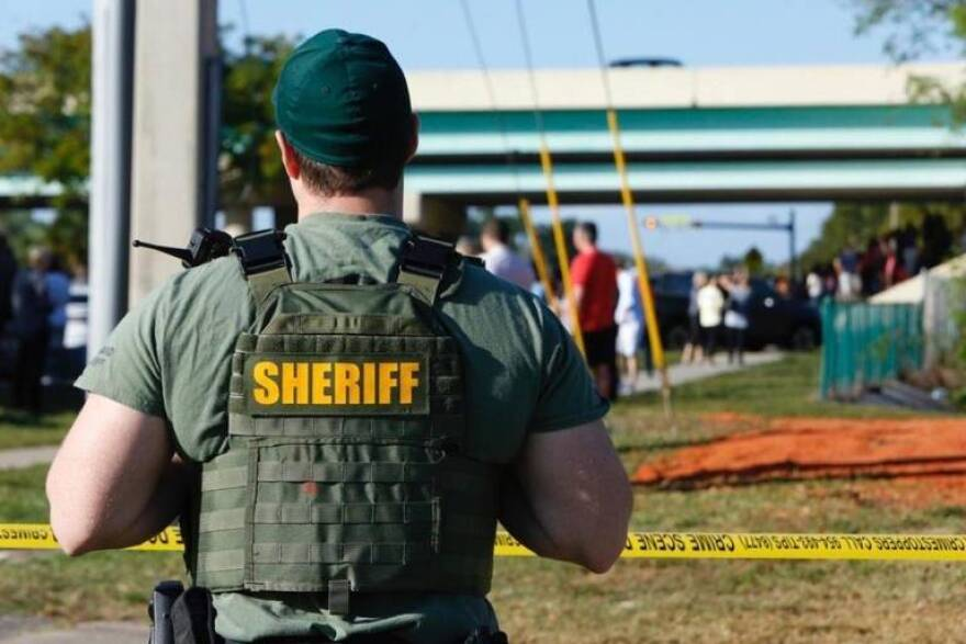 A Broward Sheriff's Office deputy was part of the massive contingent of law officers deployed to Marjory Stoneman Douglas High School in Parkland on Feb. 14 during the shooting.