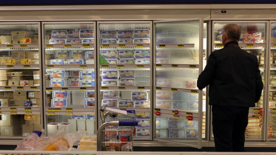 "One reason frozen food sales might be faltering is because of design. ""That glass door. It really creates a fence,"" says food trend analyst Phil Lempert."