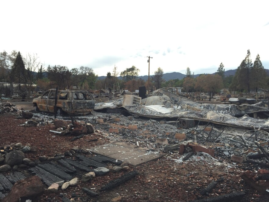 The Valley Wildfire that ignited Sept. 12 destroyed about half of the community of Middletown, Calif. Schools provide a welcome distraction from destruction like this.