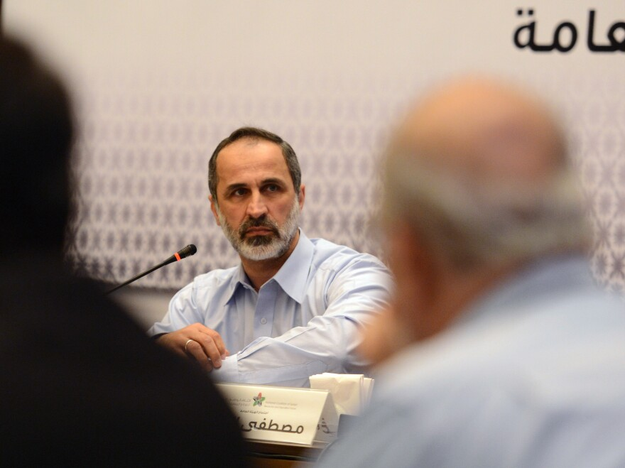 Ahmed Moaz al-Khatib took on the presidency of the Syrian National Council after it was formed in November.