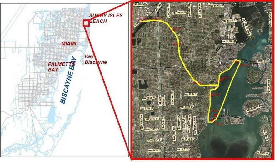 The June 20 sewage break sent waste into the Biscayne Canal and parts of the Intracoastal Waterway.