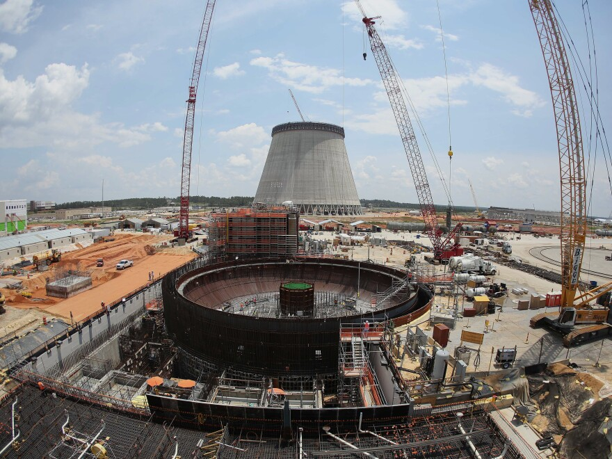 This June 13, 2014 file photo shows construction on a new nuclear reactor at Plant Vogtle power plant in Waynesboro, Ga.