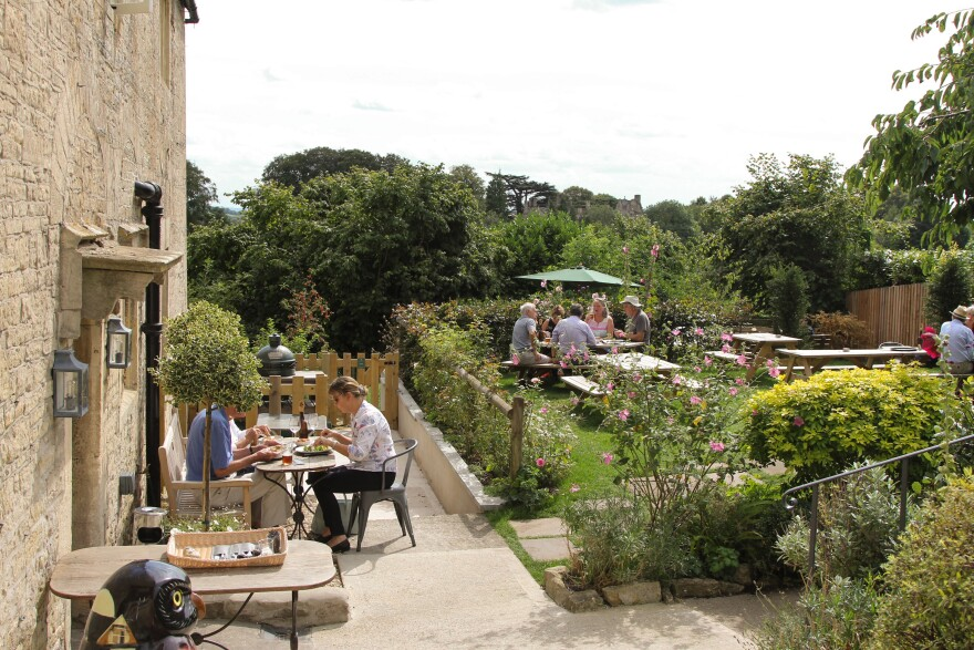 The Packhorse was neglected for decades and the back garden became a jungle. Village volunteers spent hundreds of hours clearing and regrading it in advance of the pub's reopening last year.