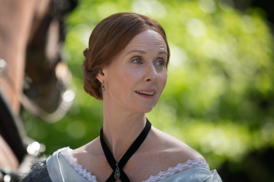"""Cynthia Nixon plays Emily Dickinson in Terence Davies' new film <em>A Quiet Passion. </em>""""I think she was afraid of life,"""" Davies says. """"Like a lot of geniuses, she had — skin missing. And that makes you very, very vulnerable."""""""