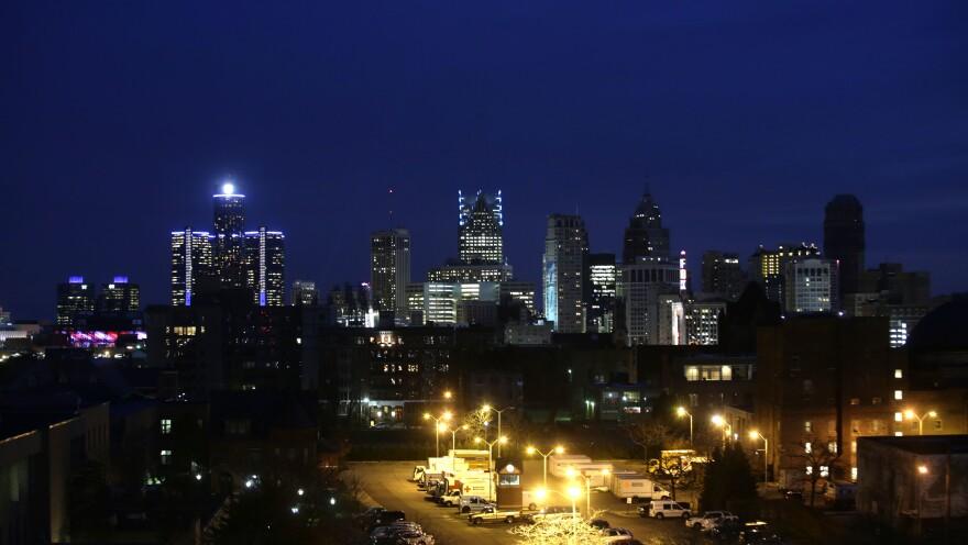Detroit's skyline in November 2014.