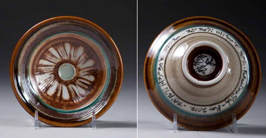 A bowl glazed with sediments from Fukushima, Japan registers no more than background radiation and provides an entrez for learning about radiation in the environment.