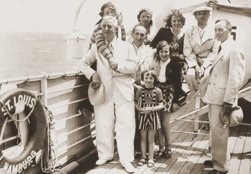 Passengers aboard the MS St. Louis in 1939. The ship of Jewish refugees fleeing Nazi Germany was blocked from landing in Cuba, Canada and the U.S. and ultimately returned to Europe.
