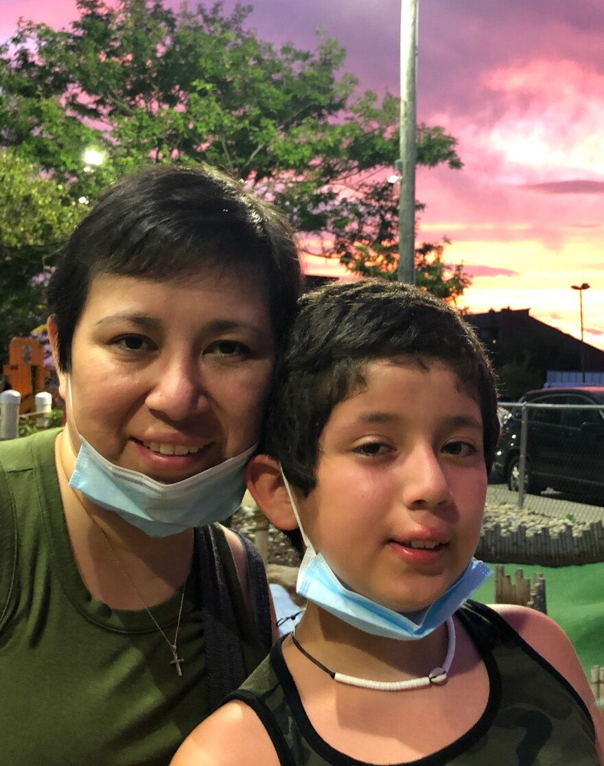 Roxana Guerra, who has ovarian cancer, has been trying to avoid large crowds this summer, while working and taking care of her 11-year-old son, Enrique.