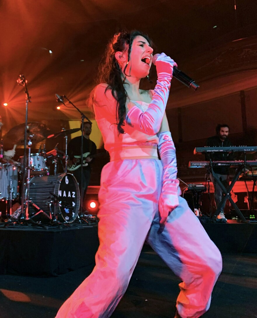 Naaz performs at the Eurosonic festival in the Netherlands.