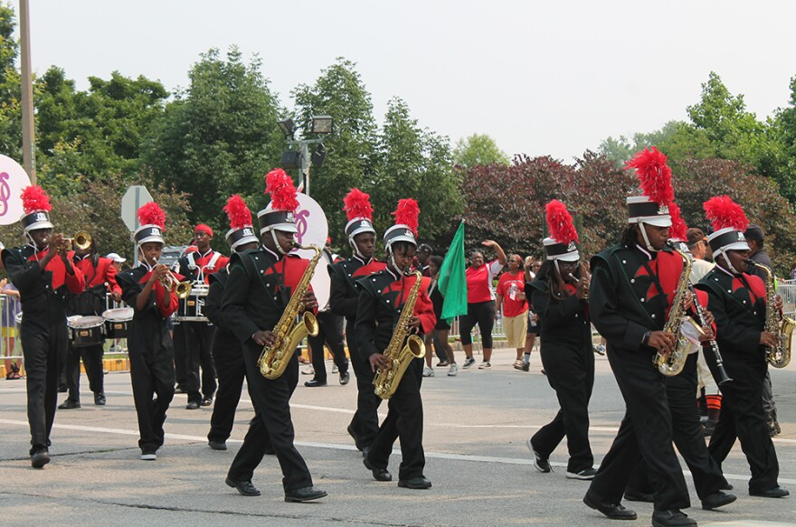 Normandy marching band performs during the VP Parade in Forest Park Saturday, July 4, 2015.
