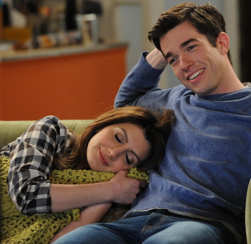 Nasim Pedrad (left) and John Mulaney star in the new Fox TV comedy <em>Mulaney</em>.