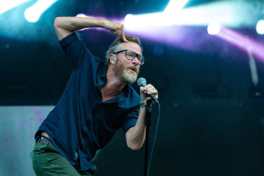 Matt Berninger of The National performs during weekend two of the ACL Music Festival at Zilker Park in Austin.