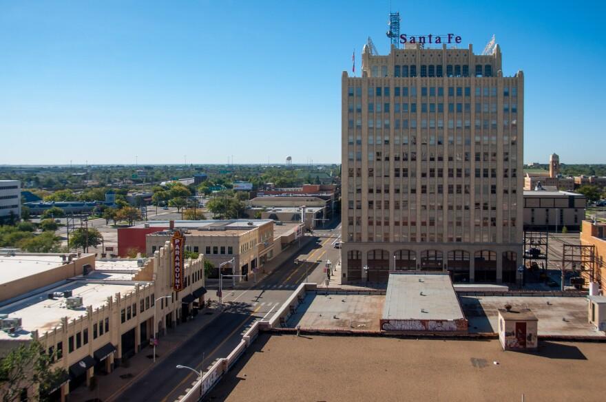 Downtown Amarillo, Texas.