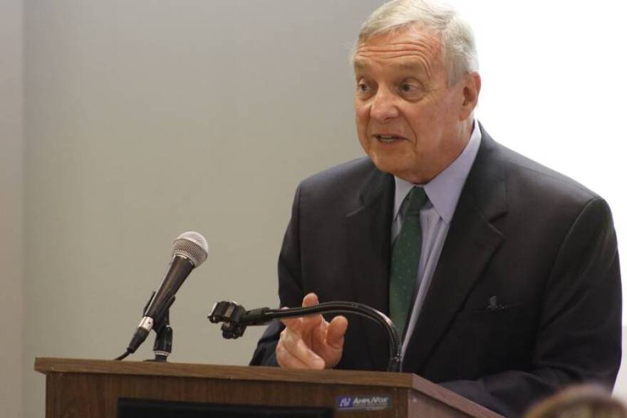 U.S. Senator Dick Durbin (D-Illinois) talks about the Rural America Health Corps Act in Granite City. The bipartisan legislature would help bring medical professionals to areas like Southern Illinois by bolstering the National Health Service Corps program
