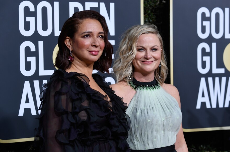 Maya Rudolph, left, and Amy Poehler, right