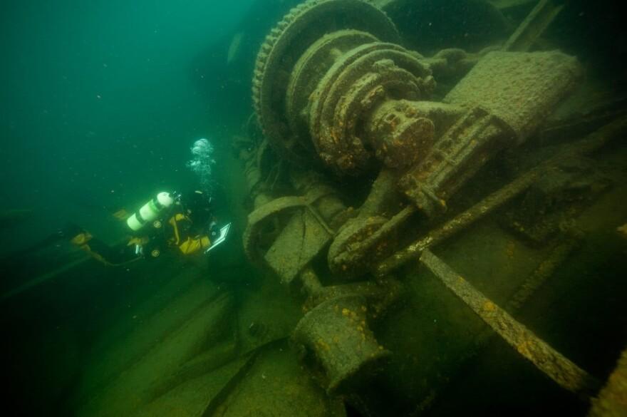 Lake Superior, Emperor shipwreck near Isle Royale. (National Park Service)