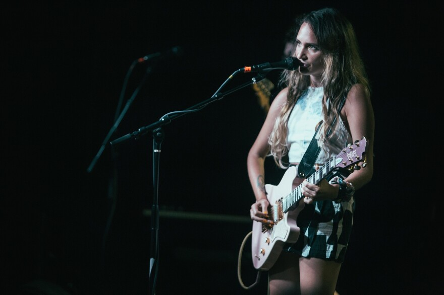 Sadie Dupuis of Speedy Ortiz performs in Alabama. As outdated assumptions about the market for instruments come to light, some guitar-makers finally are starting to recognize that players come in all shapes, sizes and genders.