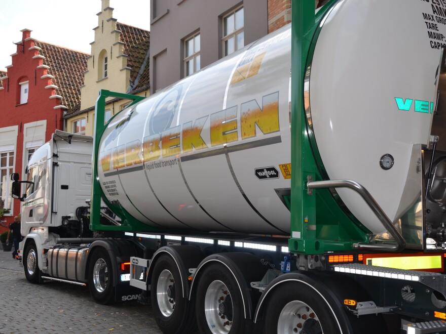 The last tanker to carry beer from De Halve Mann brewery.