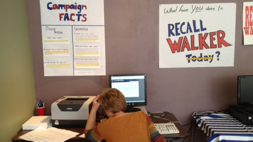A Democratic campaign office in   Waukesha, Wis.