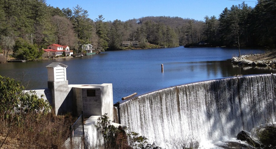 The natural beauty of Rep. Mark Meadows' district helped transform parts of it into a vacation and retirement community. This dam is on Lake Sequoyah.
