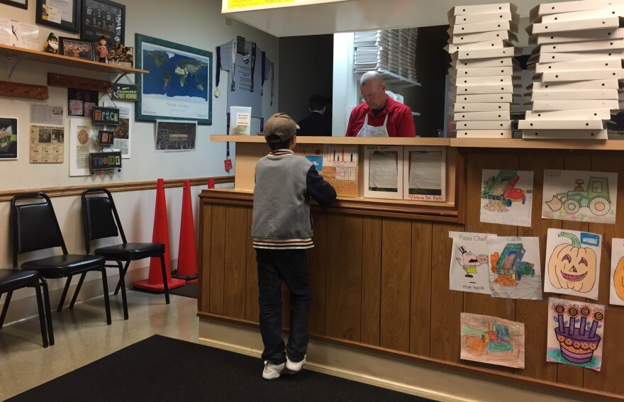 photo of a customer at the county of Farinacci Pizza in Hudson