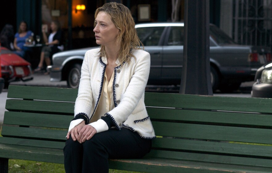 In<em> Blue Jasmine</em>, Cate Blanchett plays a wealthy New York socialite who has it all, loses it all and ends up delusional on a park bench.