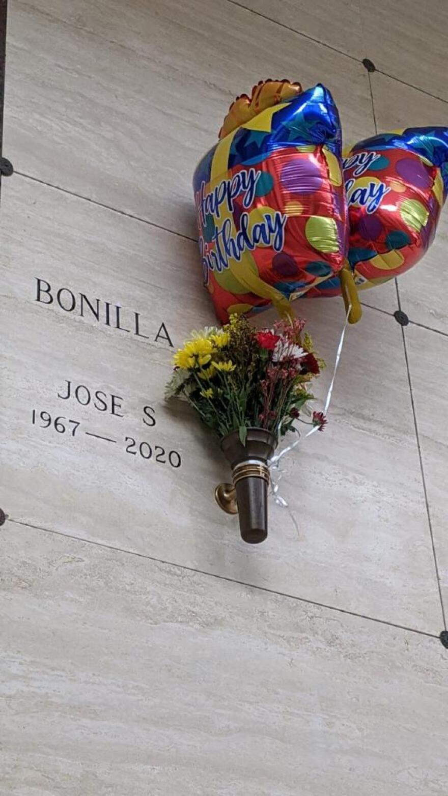 Jose Bonilla's family visits his grave for his birthday on Nov. 28, two days after Thanksgiving. Bonilla died in July from complications with COVID-19.