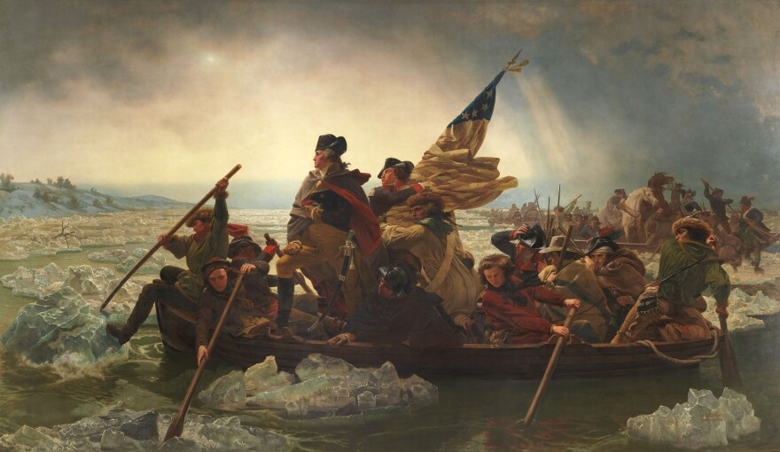 In his book, Robert Sullivan considers, among other things, how little Emanuel Leutze's 1851 painting <em>Washington Crossing the Delaware</em> has in common with the actual historic crossing, which took place at night and during a snowstorm.