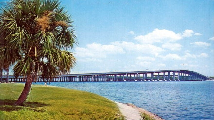 The Memorial Bridge in Palatka that crosses the St. Johns River is pictured.