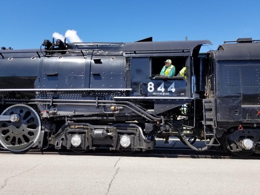 Photo of steam engine.