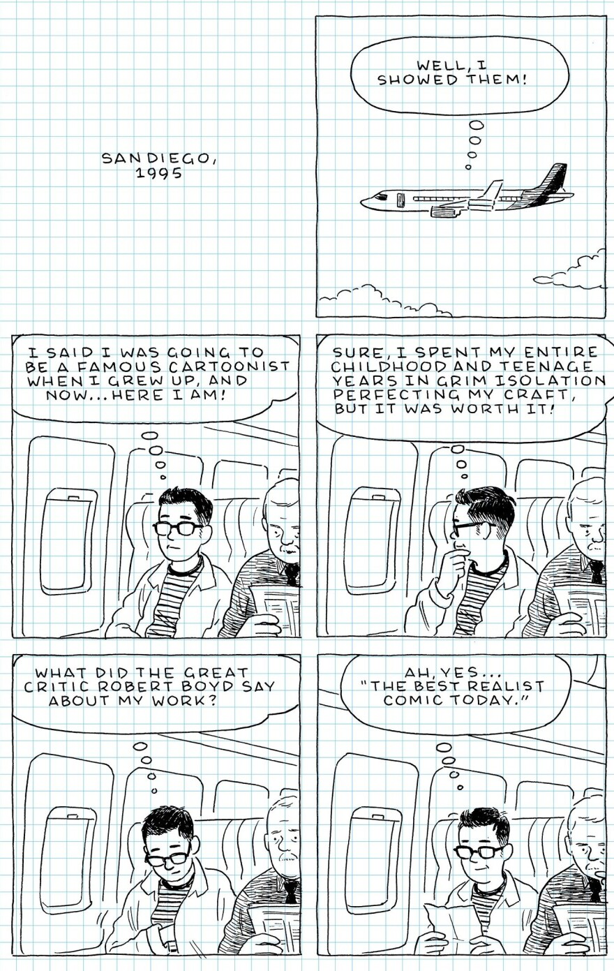 From <em>The Loneliness of the Long-Distance Cartoonist</em> by Adrian Tomine