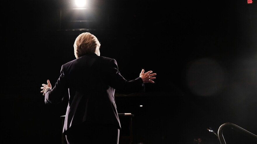 Democratic presidential candidate Hillary Clinton speaks at SUNY Purchase on Thursday in Purchase, New York.