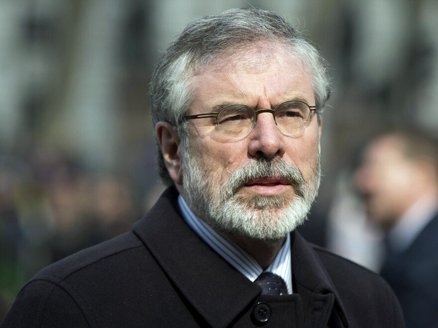 Sinn Fein President Gerry Adams was arrested Wednesday as part of an investigation into one of Northern Ireland's most controversial killings.