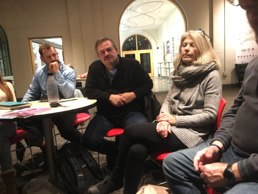 """On Wednesday night, around 13 members of """"Saint Louis Metro Airbnb Hosts"""" gathered at the Dennis & Judith Jones Visitor and Education Center. Bryan Young (pictured center) is an advocate designated to work with policymakers. February 6, 2019"""