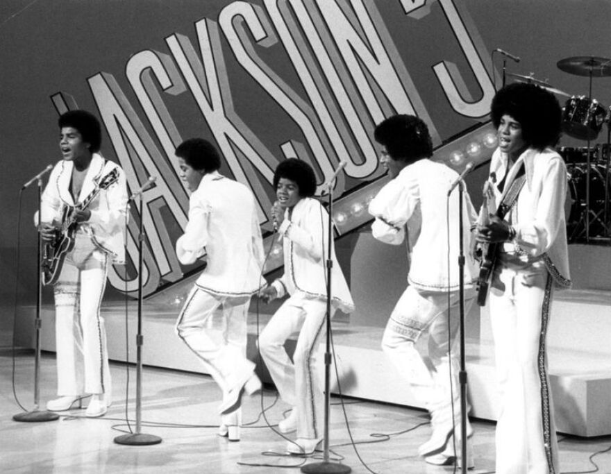 A photo of the Jackson 5 performing.