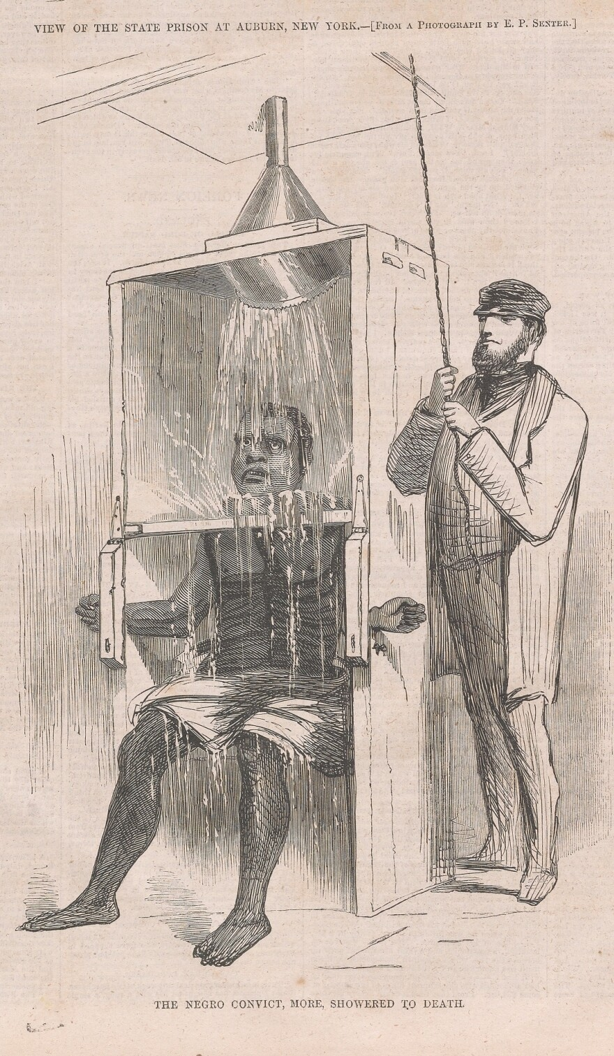 "In prison, Reed endured brutal punishment, including ""the showering bath,"" an early version of waterboarding. It was initially considered more ""humane"" than whipping, but when an inmate died after being punished in the showering bath, prisoners rioted."