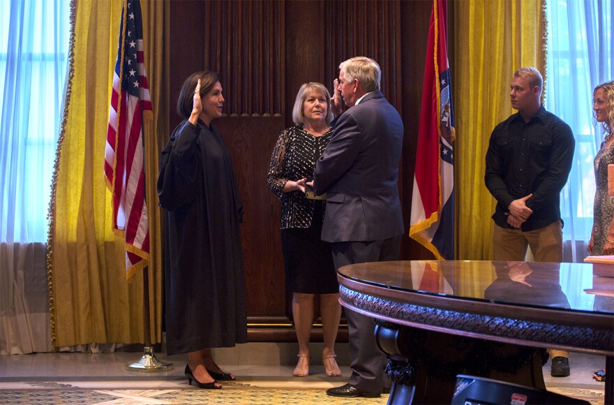 Former Lt. Gov. Mike Parson is sworn in as the 57th governor of Missouri. June 1, 2018