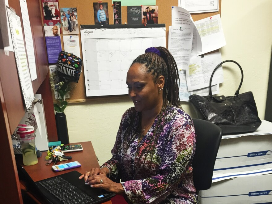 Sholonda Jackson works at Operation Dignity, a nonprofit in Oakland, Calif., that provides housing to homeless veterans. California's Proposition 47 enabled the former crack addict to seek a reduction of her drug felonies to misdemeanors. She has earned a bachelor's degree and is working full time.