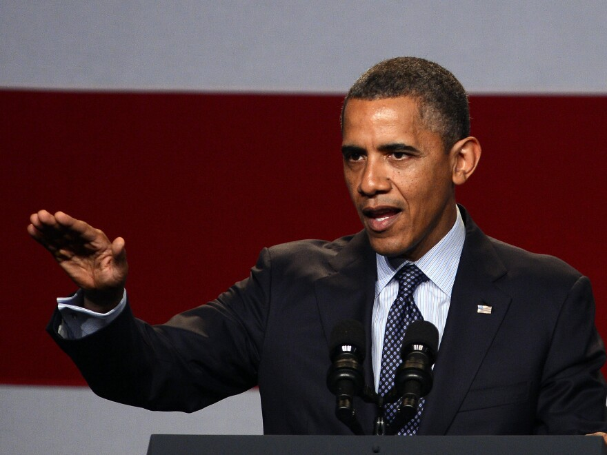 President Obama at a campaign event in Beverly Hills, Calif., on Wednesday.