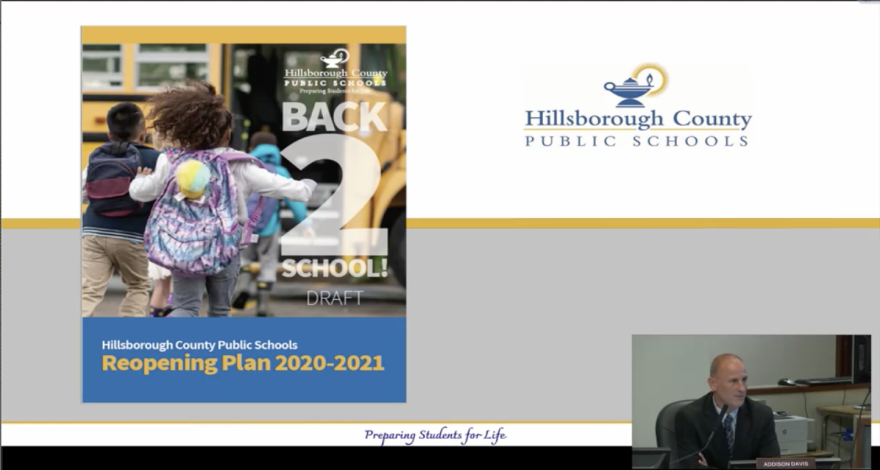 """Superintendent Addison Davis presented his plan for Hillsborough County students to go """"Back 2 School"""" on Thursday."""