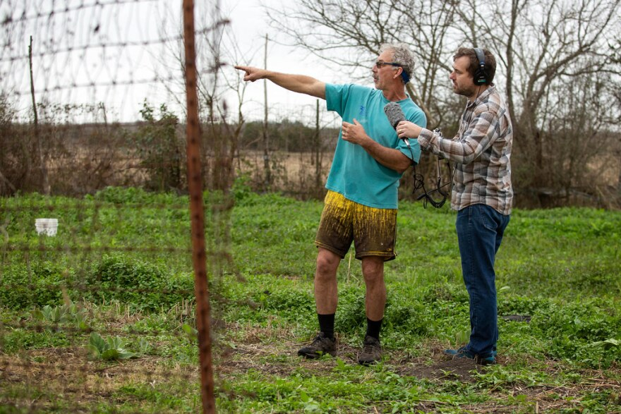 Tim Miller, owner of Millberg Farm in Kyle, talks with KUT's Mose Buchele on January 22nd, 2019.