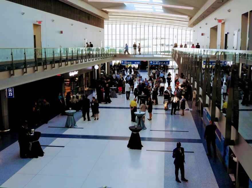 Guests checked out the expansion of Concourse A at Charlotte Douglas International Airport Wednesday.