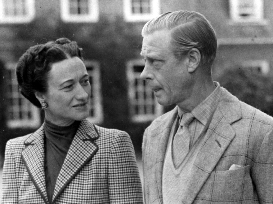 The Duke and Duchess of Windsor at Ednam Lodge, Sunningdale, in October 1946.