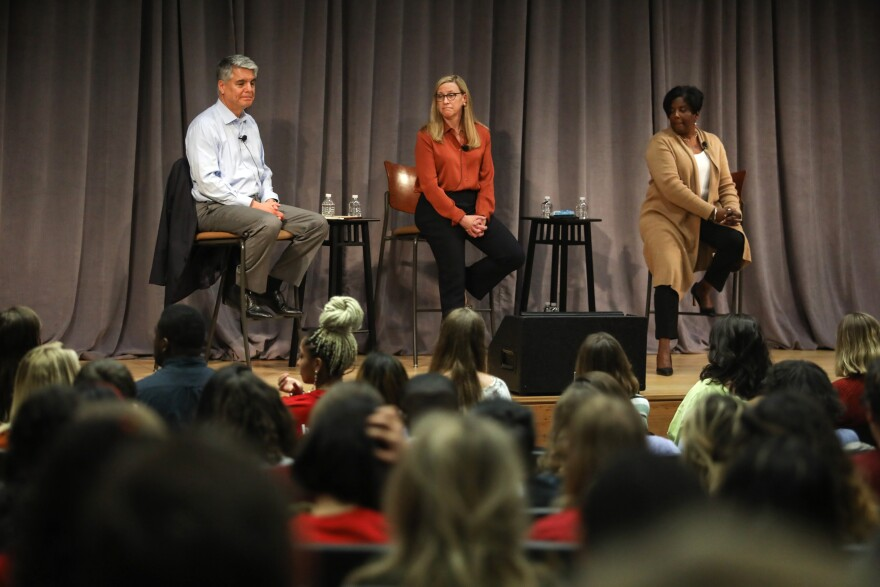 President Greg Fenves, Provost Maurie McInnis, and Vice President for Student Affairs and Dean of Students Soncia Reagans-Lilly answer UT students' questions.