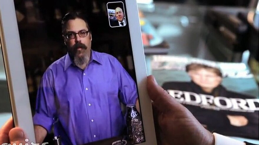 Drinks columnist David Wondrich is seen on <em>Esquire</em>'s new Talk to Esquire app, which allows users to interact with several of the magazine's columnists through voice recognition.