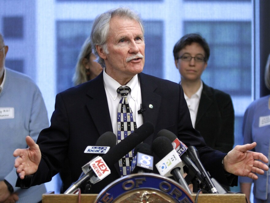 Oregon Gov. John Kitzhaber is leading a $2 billion health care experiment in the state, aimed at changing the way the sickest people in Oregon get health care. Here, he speaks during a press conference in Portland earlier this month.
