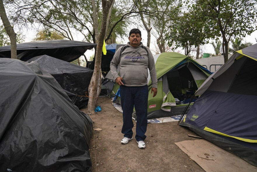 Marvin Zelaya-Garcia, 43, left Honduras 10 months ago after his son was being harassed to join a local gang. After losing his own asylum case, he remains in the Matamoros encampment.