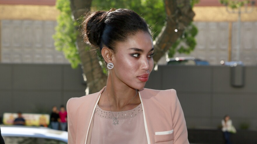 V. Stiviano, whose recording of former Los Angeles Clippers basketball team owner Donald Sterling led to his having to sell the team, arrives at Los Angeles Superior Court in March.