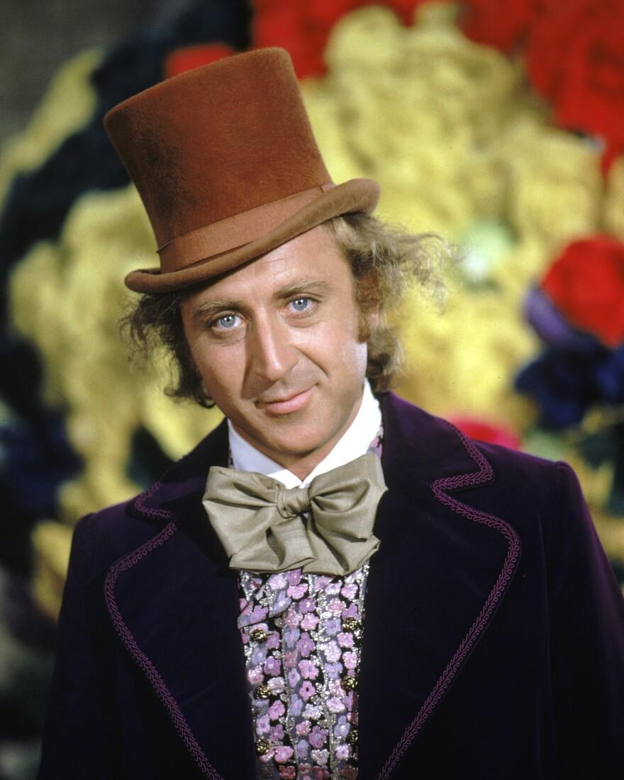 Actor Gene Wilder as Willy Wonka in <em>Willy Wonka & The Chocolate Factory</em> in 1971. Wilder died Monday at 83.
