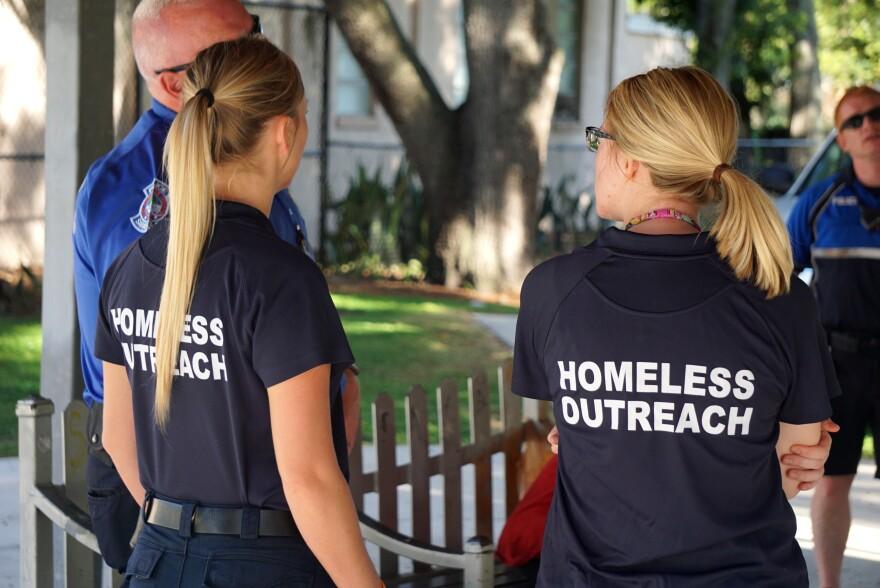 Two members of Homeless Response Team in Sarasota